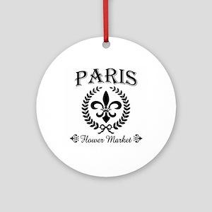 PARIS FLOWER MARKET Ornament (Round)