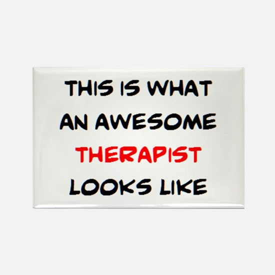 awesome therapist Rectangle Magnet