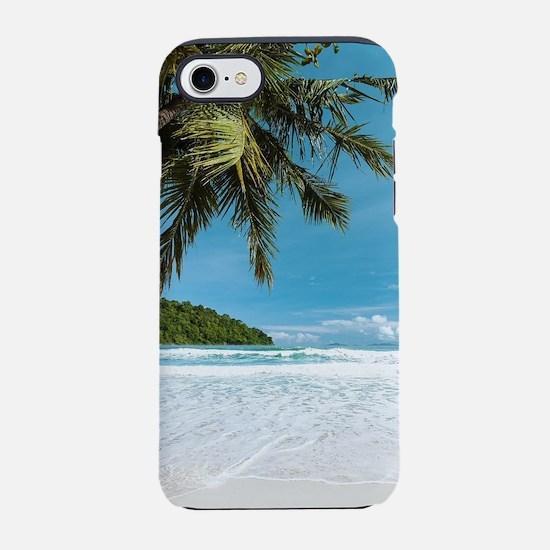 Tropical Palm Beach iPhone 7 Tough Case