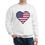 American Flag Heart Sweatshirt