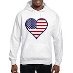 American Flag Heart Hooded Sweatshirt