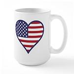 American Flag Heart Large Mug