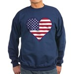 American Flag Heart Sweatshirt (dark)