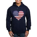 American Flag Heart Hoodie (dark)