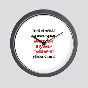 awesome marriage & family therapist Wall Clock