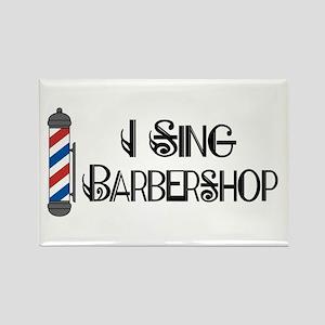 I Sing Barbershop Rectangle Magnet