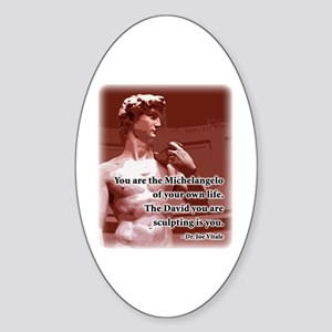 Vitale Michelangelo Quote Oval Sticker