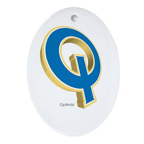 Optimist Oval Ornament