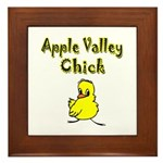 Apple Valley Chick Framed Tile