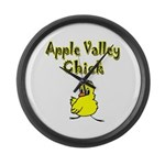 Apple Valley Chick Large Wall Clock