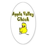 Apple Valley Chick Oval Sticker (10 pk)