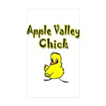 Apple Valley Chick Rectangle Sticker 50 pk)