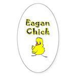 Eagan Chick Oval Sticker (50 pk)