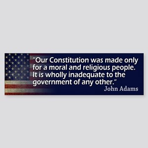 John Adams: Religion/Constitution Bumper Sticker