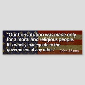 ADAMS: Moral & Religious people Sticker (Bumpe