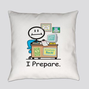 Accountant Stick Figure Everyday Pillow