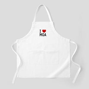 I Love MOA BBQ Apron