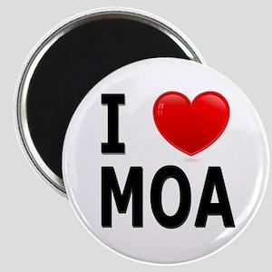 I Love MOA Magnet