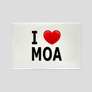 I Love MOA Rectangle Magnet