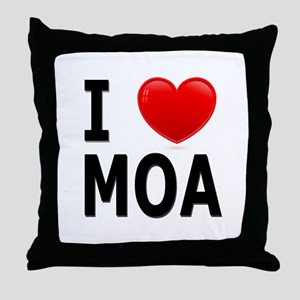 I Love MOA Throw Pillow