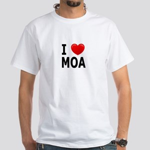 I Love MOA White T-Shirt