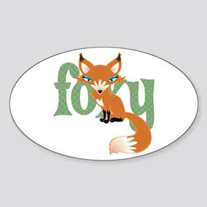 Foxy Red Oval Sticker