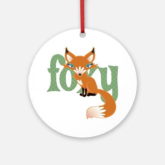 Foxy Red Ornament (Round)