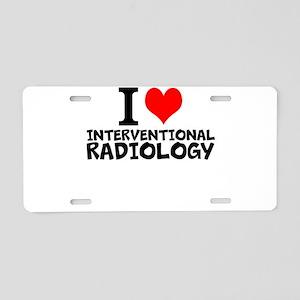 I Love Interventional Radiology Aluminum License P