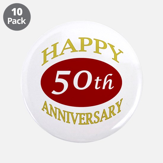 """Happy 50th Anniversary 3.5"""" Button (10 pack)"""