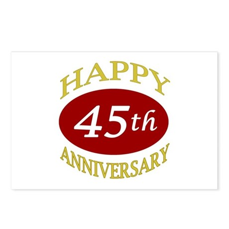 Happy 45th Anniversary Postcards (Package of 8)