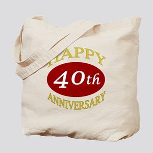 Happy 40th Anniversary Tote Bag