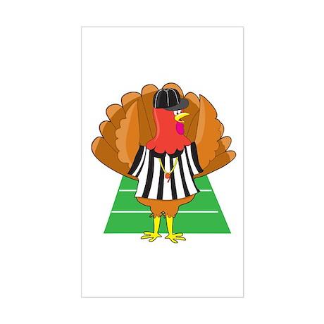 Turkey Referee Rectangle Sticker