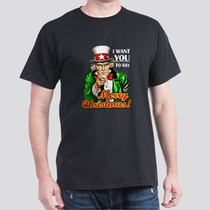 Uncle Sam - I Want You to say Dark T-Shirt