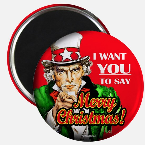 "Uncle Sam - I Want You to say 2.25"" Magnet (10 pac"