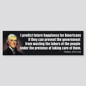 JEFFERSON: Predict Future Happiness Sticker (Bumpe