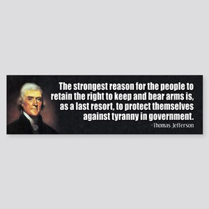 JEFFERSON: 2nd Amendment Bumper Sticker