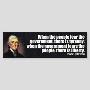 Jefferson: Liberty vs. Tyranny Sticker (Bumper)