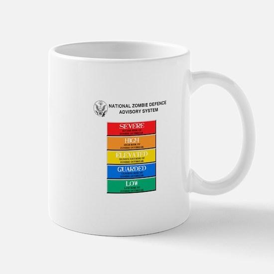 """""""Zombie Threat Level"""" Mug"""