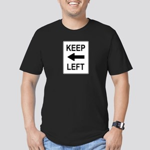 Keep Left Sign Men's Fitted T-Shirt (dark)