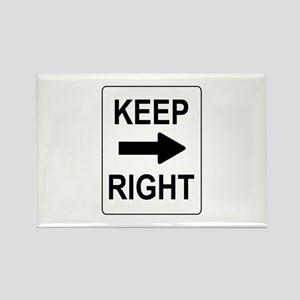 Keep Right Sign Rectangle Magnet