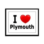 I Love Plymouth Framed Panel Print