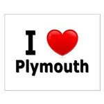 I Love Plymouth Small Poster