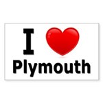 I Love Plymouth Rectangle Sticker 50 pk)