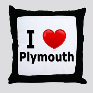 I Love Plymouth Throw Pillow