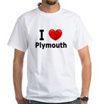 I Love Plymouth White T-Shirt