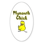 Plymouth Chick Oval Sticker (10 pk)