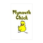 Plymouth Chick Rectangle Sticker 50 pk)