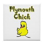 Plymouth Chick Tile Coaster