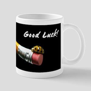 Good Luck Ladybug on a Pencil Mug