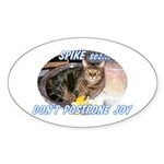Don't Postpone Joy Oval Sticker (10 pk)